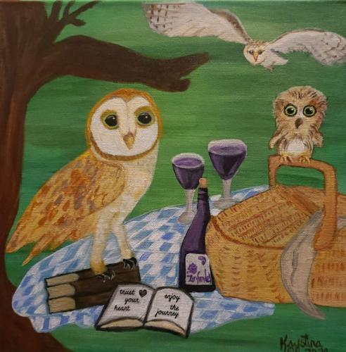 Whimsical Owl Picnic