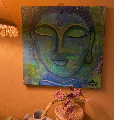 Buddha In Blue